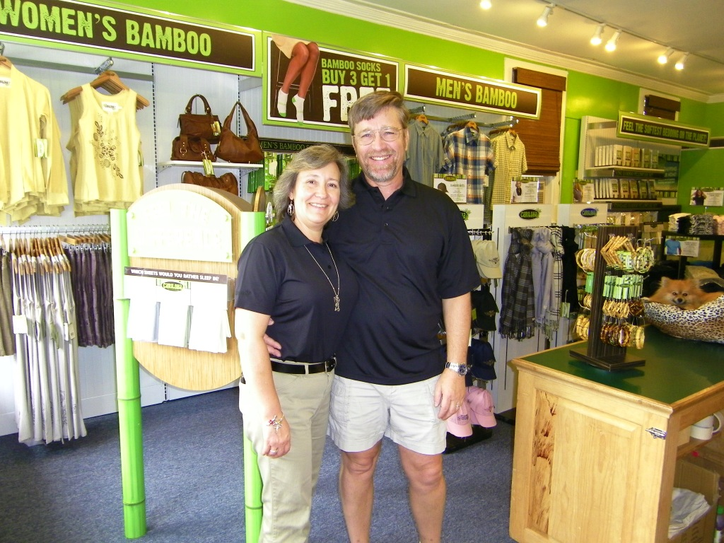 Cariloha Bamboo Store Owners in Bar Harbor Maine