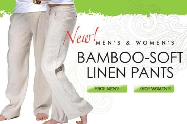 New Bamboo Linen Pants - Perfect for Your Cruise Adventure - Blog