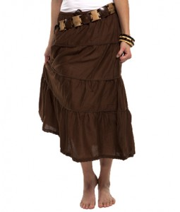 chocolate bamboo skirt