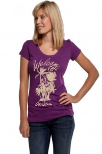 Cariloha Bamboo Women's Welcome to Cariloha shirt design