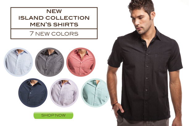 Cariloha Island Collection Men's Woven Bamboo Shirts