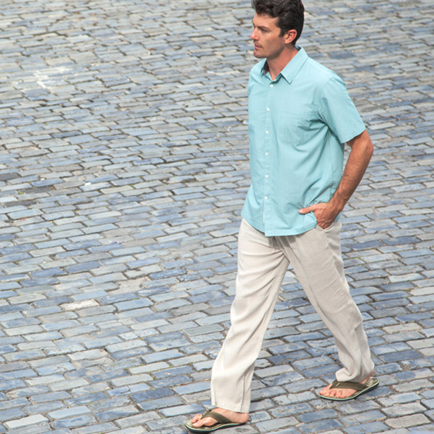 Mens-Bamboo-Button-Down-Shirt-Linen-Pants