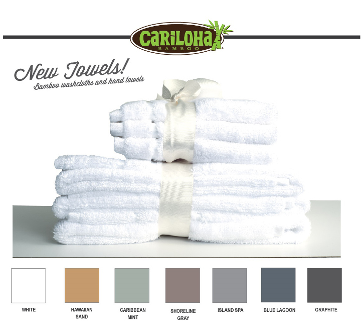 Cariloha Expands Bamboo Towel Collection with Washcloth and Hand Towel Sets