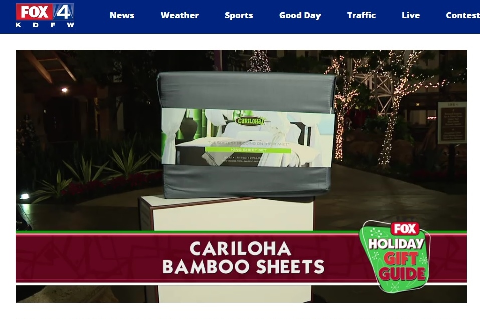 Fox Highlights Cariloha Bamboo Bed Sheets as National Favorite