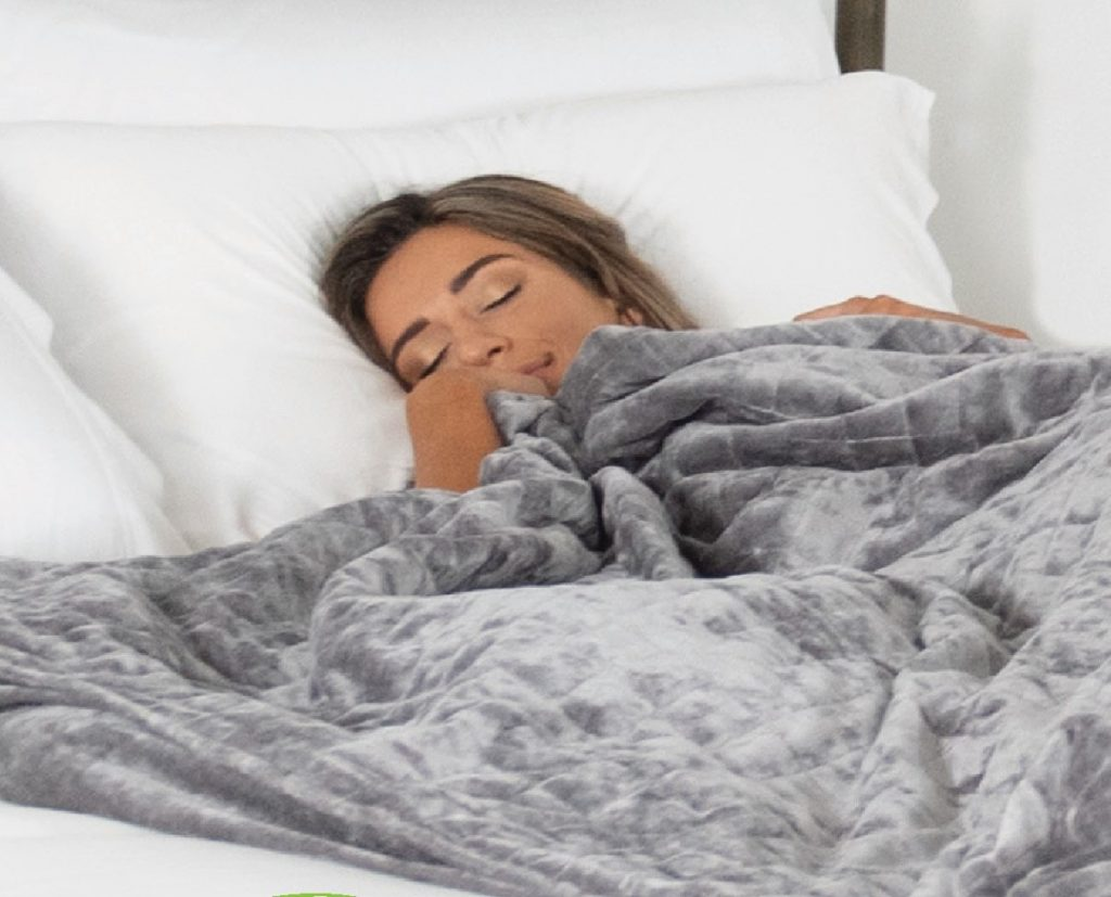 Glamour Spotlights Cariloha Weighted Blanket for Deepest Sleep