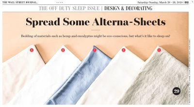 Cariloha Bamboo Sheets Help Improve Sleep by The Wall Street Journal