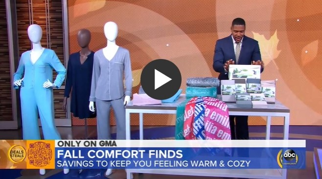 Good Morning America Features Cariloha in Fall Comfort Finds