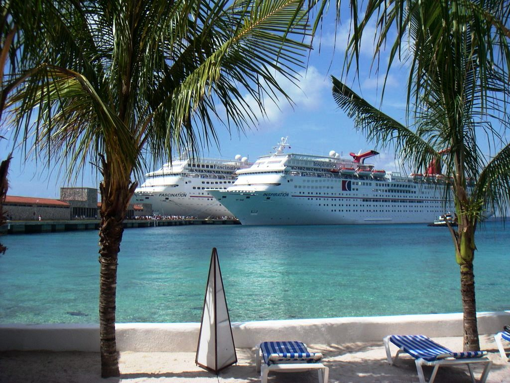 Carnival Cruise Line Ships in Cozumel, Mexico